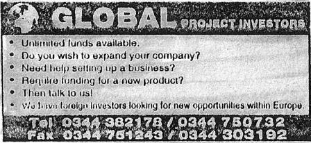 Advert for Global Project Investments